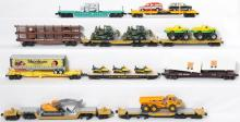 Lionel, MTH, K Line TTX Flats with Loads