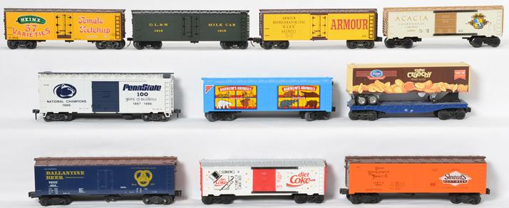 10 K Line Freight Cars, 642-8011, 64061, 46213, 6475