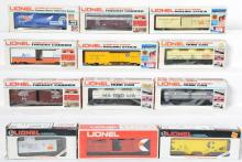 12 Lionel Freight Cars, 9404, 9733, 9148, 9279, 9785, 5703, 9419