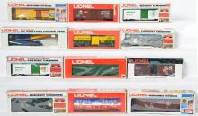 12 Lionel Freight Cars, 19213, 6425, 9787, 9863, 9709