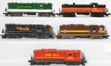 5 Lionel Geeps, 8775, 8758, 8455, 8159,
