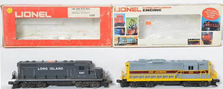 2 Lionel Geeps, Erie Lackawanna 8759, Long Island 8367