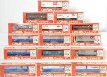 15 Lionel Standard O Freight Cars, 9802, 9805, 9801, 9825, 9820