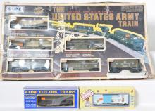 K Line Army Train Set and freight cars, 1911, 6428, 6627