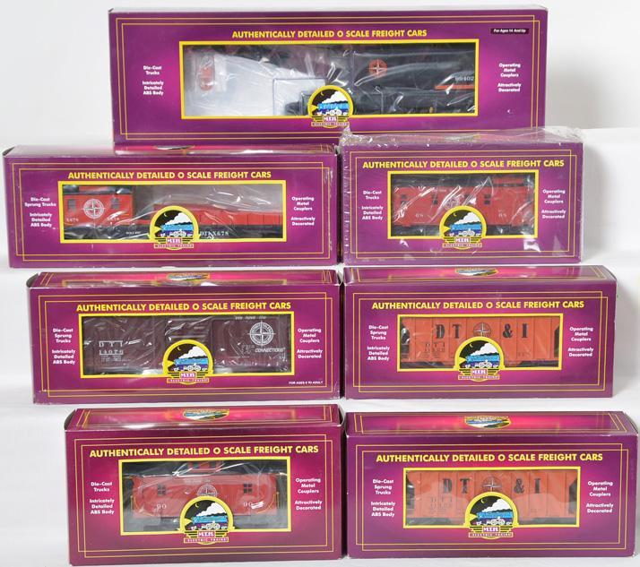 7 MTH Detroit, Toledo, & Ironton Freight Cars, 93428, 91374, 91443, 97265, 98906