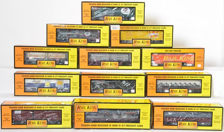 12 Railking Freight Cars, 7874, 7820, 7333, 7822