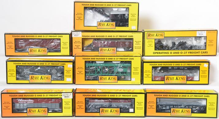 10 Railking New York Central Freight Cars, 7608, 7513, 7682, 7910, 7332,