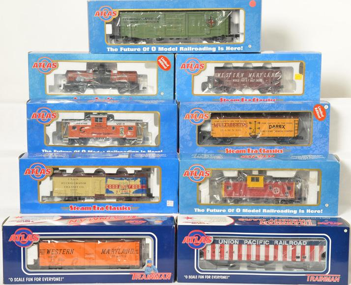 9 Atlas Freight Cars,74444, 8879-2, 8641, 6616, 6766-1