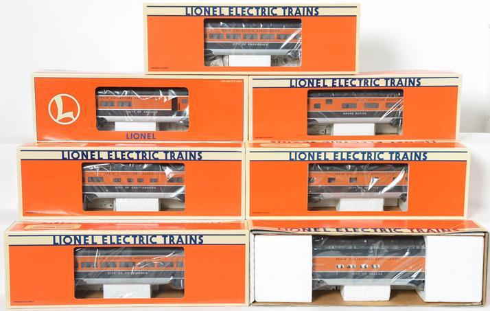 7 Lionel TCA Aluminum Passenger Cars, 52143, 52220, 52250, 52191, 52085
