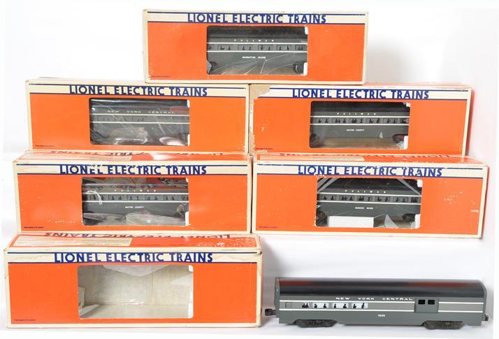 6 Lionel NYC Aluminum Passenger Cars, 7207, 9594-98