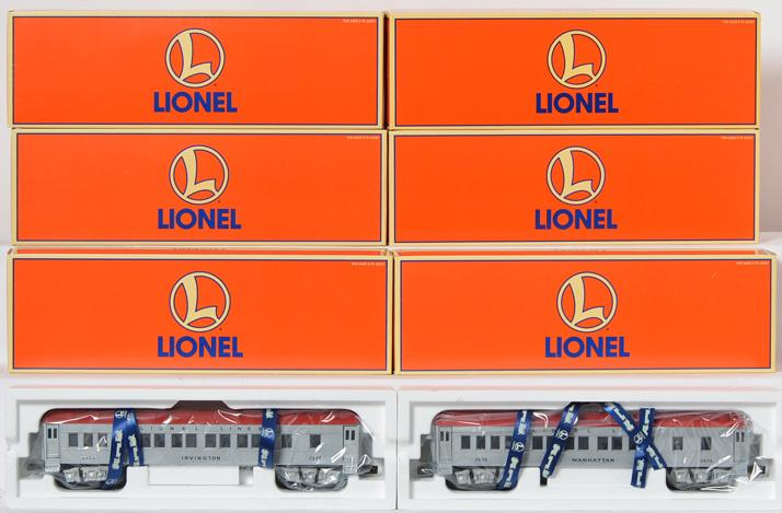 2 Lionel 39028 silver Madison three pack