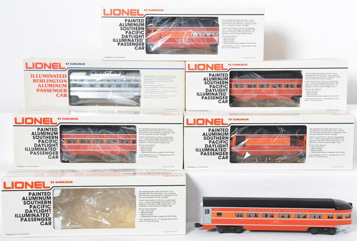 6 Lionel Southern Pacific passenger cars 9588-93