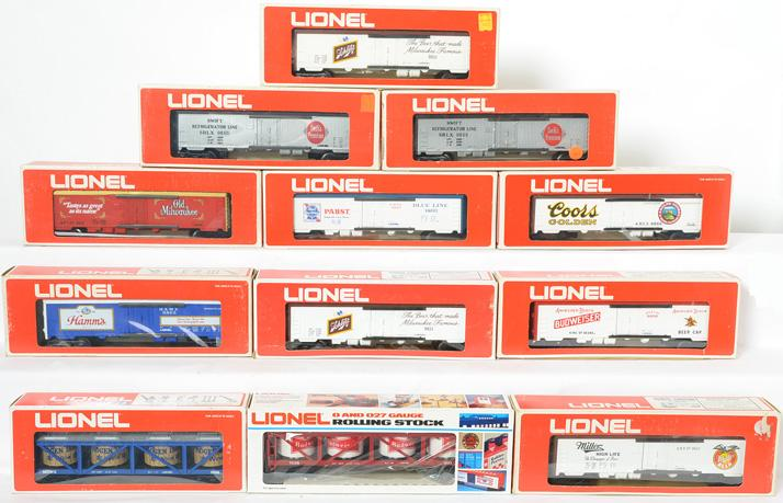 12 Lionel Billboard Reefers, 9852, 9851, 9855, 9856, 9866