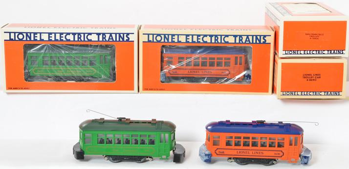 4 Lionel Trolleys, 8690 Lionel Lines, 18404 San Francisco