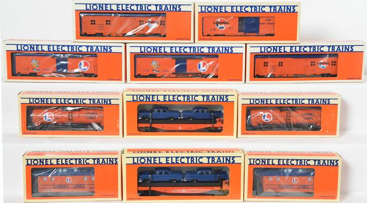 11 Lionel Lines Freight Cars, 6313, 9239, 9849, 9492, 16933
