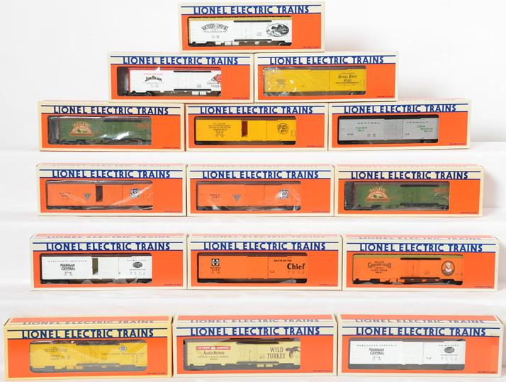 15 Lionel Freight Cars, 9845, 5713, 9845, 5721, 9836, 9834