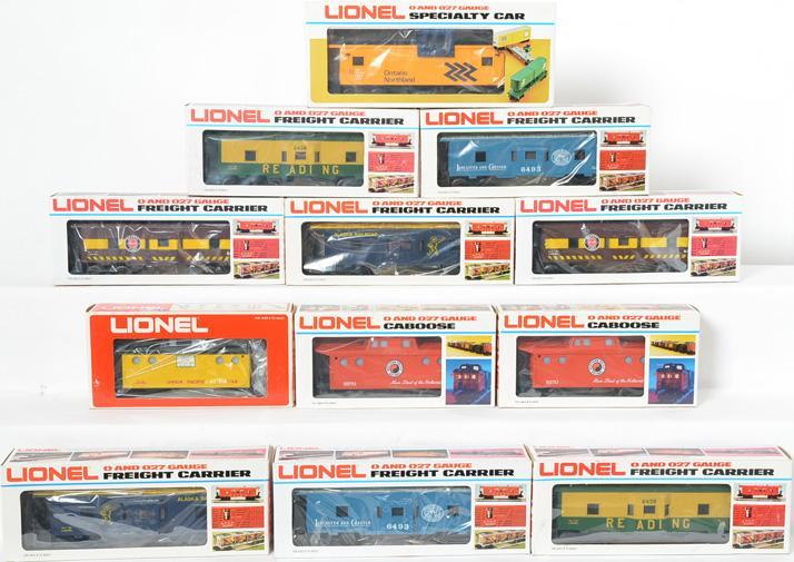 12 Lionel O Gauge Cabooses, 9270, 6439, 6441, 6493, 6422, 9168