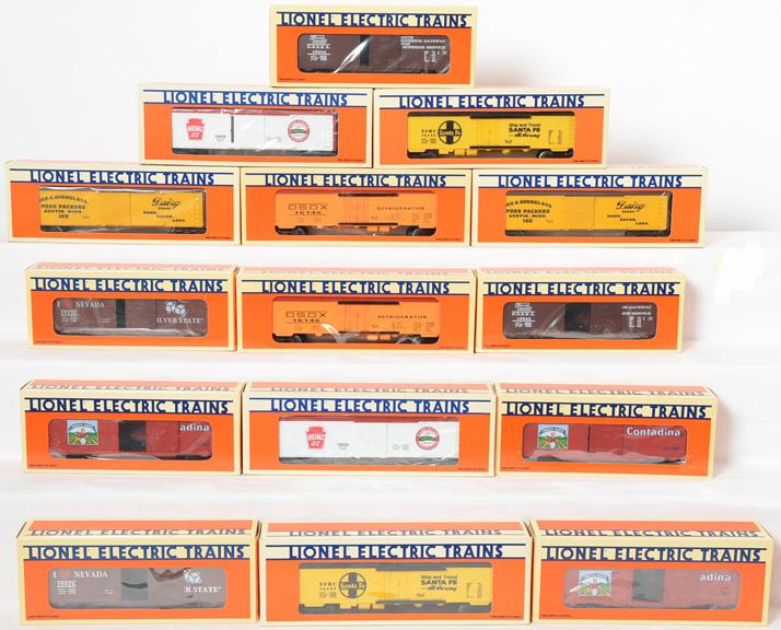 15 Lionel Freight Cars, 16133, 19925, 16244, 16245