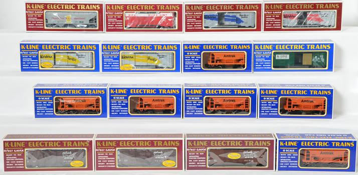 16 K Line Freight Cars, 67263, 64231, 6466, 6468, 6436