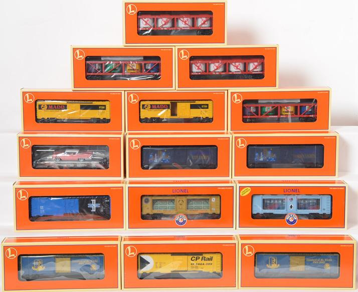 15 Lionel Freight Cars, 26239, 36067, 26820, 29252,19446,