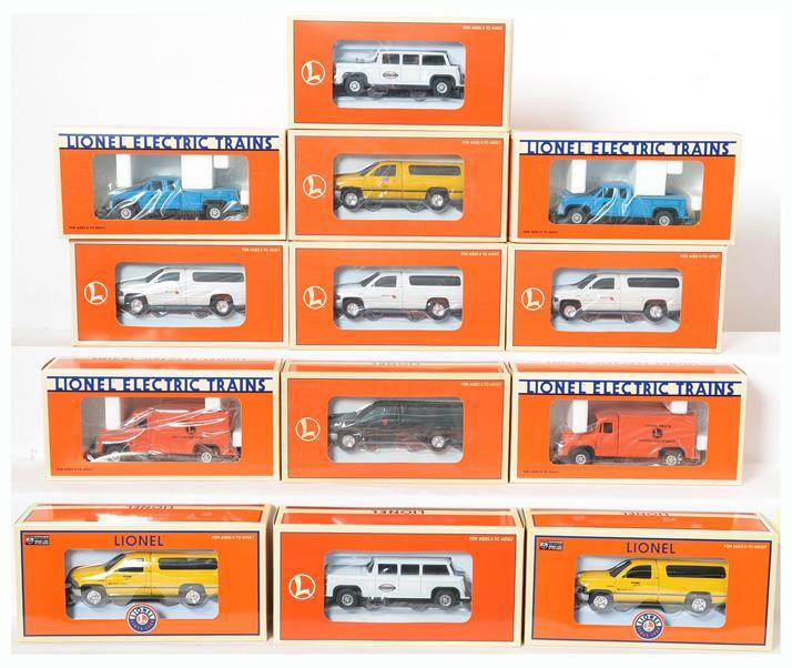 13 Lionel Inspection Vehicles 18439, 18440, 18430, 18424, 18423, 18484