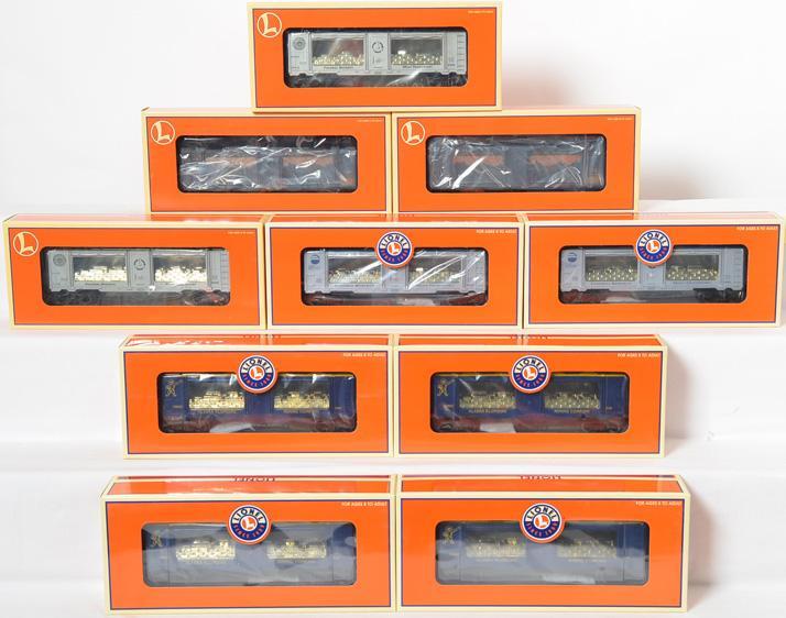 10 Lionel Mint Cars, 19682, 19660, 19670, 19676