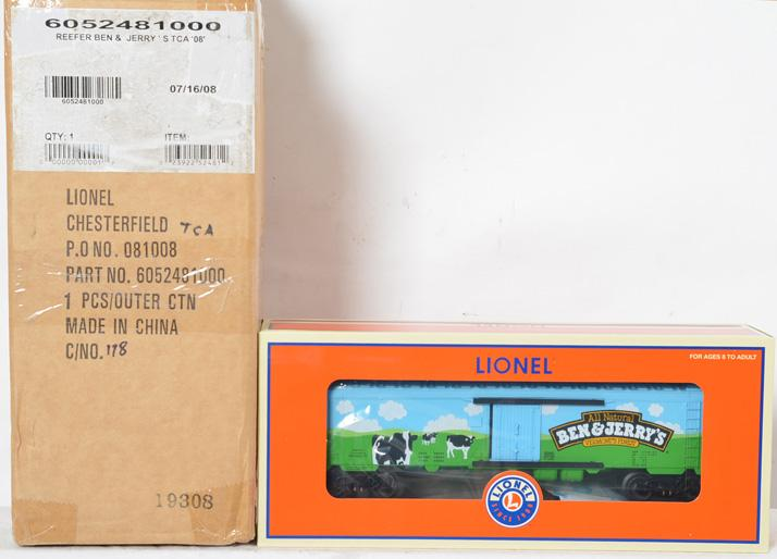 2 Lionel 52481 Ben and Jerry''s Reefer, TCA''08