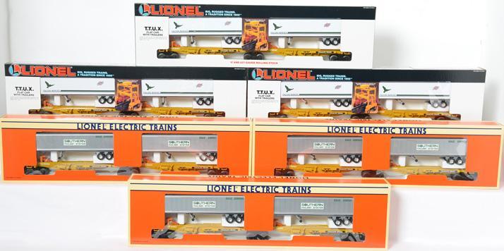 6 Lionel TTUX, 3 16334 C&N, 3 16363 Southern