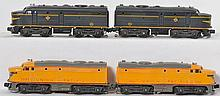Lionel postwar Alco pairs 2032 Erie and 2023 Union Pacific