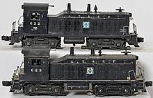 Lionel Santa Fe switchers 622 and 623