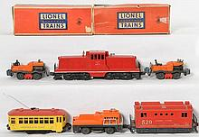 Lionel 627, 520, 3927, 50, 50, 60 locos and motorized units