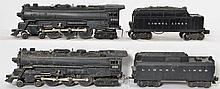 Lionel 2055 and 665 steam locomotive with whistle tenders