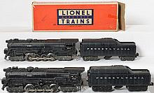 Lionel postwar 671 and 681 Pennsylvania turbines 2046W and 2671W tenders