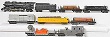 Lionel 2056 loco and tender plus 7 operating cars 3459, 3562-50, 2420, 3454, etc