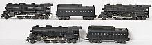 Lionel 2037, 637, and 2036 locomotives with tenders