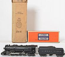 Lionel 736 Berkshire with 2046W Lionel Lines tenders and boxes
