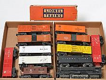 Lionel 681 turbine with ten boxcars 6014, 3464, 3656, etc