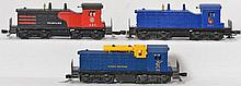 3 Lionel postwar switchers 602, 621, and 614