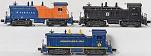 Lionel switcher group 624 C&O, 623 Santa Fe, and 6250 Seaboard