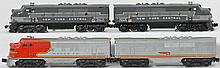 Lionel Santa Fe and New York Central F-3 pairs 2243 2333