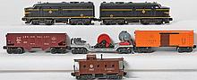 Lionel 2032 Erie Alco A-A, 3650, 6454, 6456, and 6457