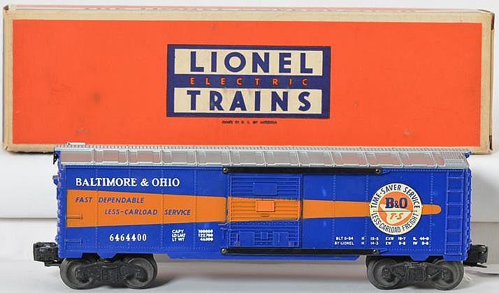 Clean Lionel 6464-400 Baltimore and Ohio boxcar with original box