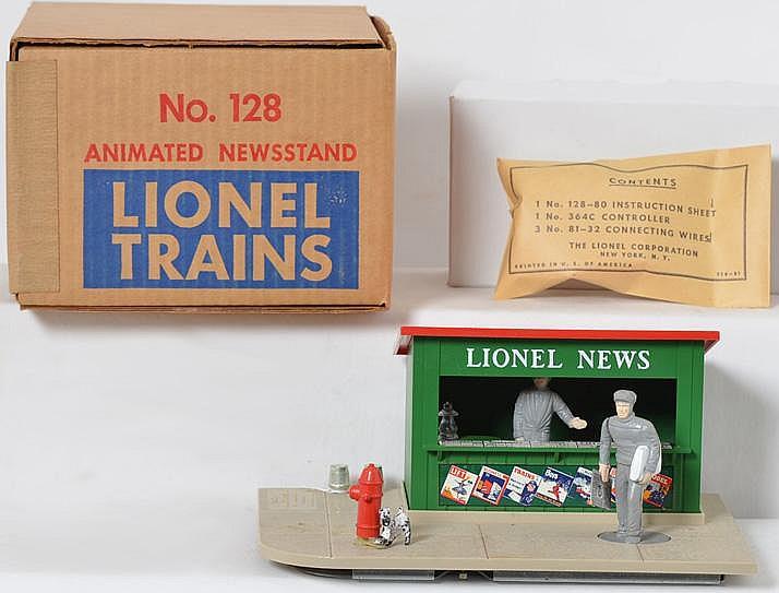 Clean Lionel 128 news stand in original box