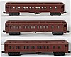 3 Lionel unmarked Madison passenger cars. Never lettered at the factory.