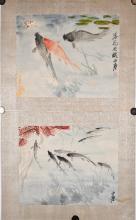 Two of Wang Yachen (1894-1983) Fish