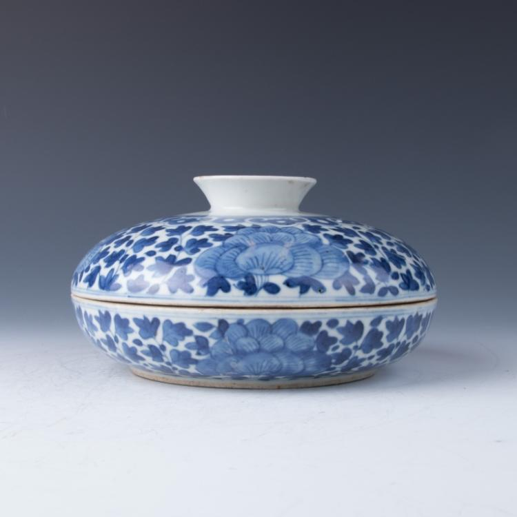 A Blue and White Bowl and Cover