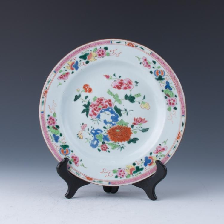 An Export Famille Rose Plate