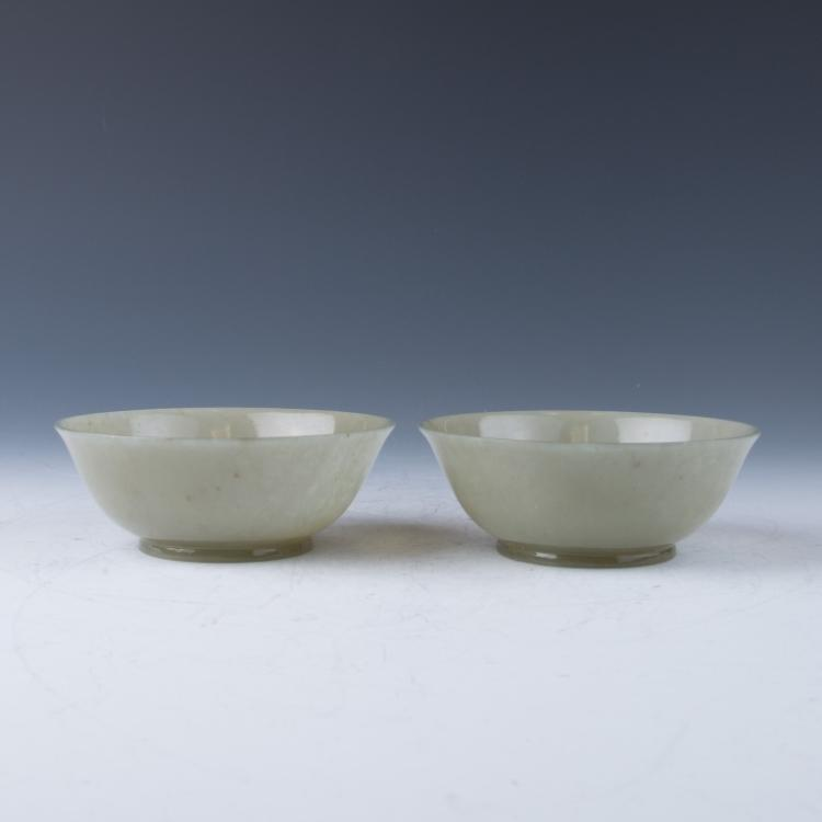 A Pair of Jade Bowls