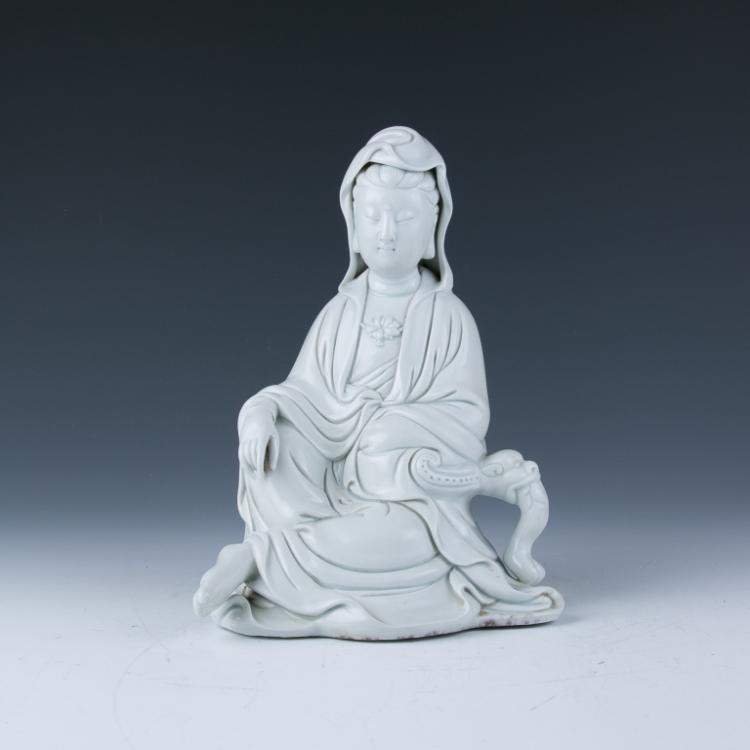 A Blanc- De-Chine Figure of Guanyin