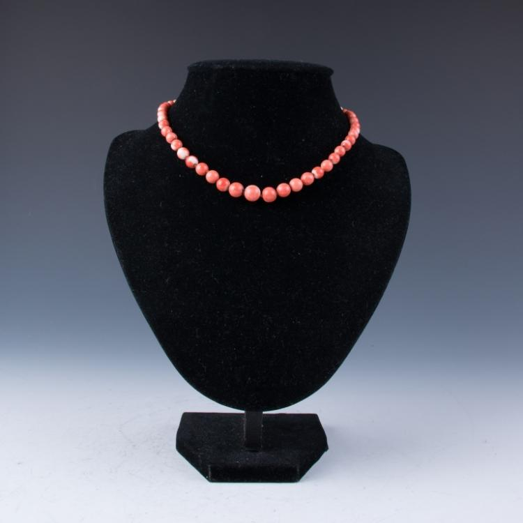 A Red Coral MOMO Necklace